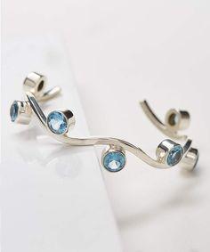 51a1a299c7e Blue Topaz   Sterling Silver Squiggle Cuff