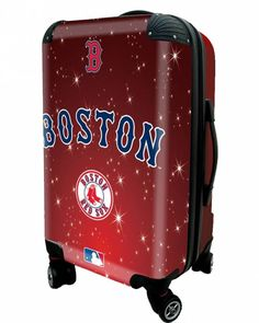 """Boston Red Sox, 21"""" Clear Poly Carry-On Luggage by Kaybull"""