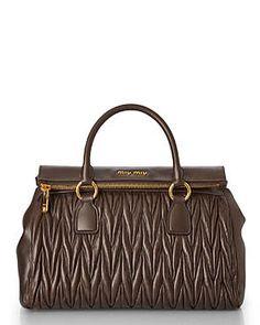 Golden Brown, Dark Brown, Miu Miu Handbags, Department Store, Clutches, Satchel, Formal, Brown, Preppy