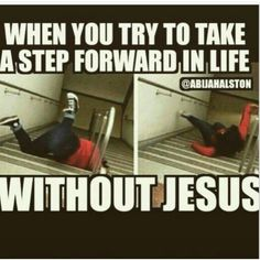 When you try to take a step forward in life
