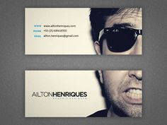 Business Card Templates Black White Letterpress Business Card ...