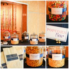 Wedding reception. Popcorn bar!