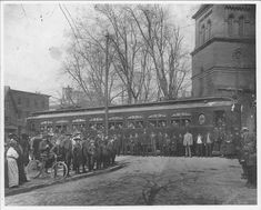 Opening Day for the Electric Line Trolley Car @ the Corner of Franklin St & Church Circle in Annapolis, MD... March 25, 1908... Naval Academy, Chesapeake Bay, Opening Day, Yesterday And Today, Maryland, Past, Electric, March, Corner