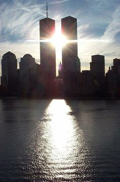 """""""This photo was taken by Sue Urban at 7:00 AM on July 28, 2001 with a digital camera from a cruise ship on the Hudson River. No alterations were made to the original."""""""