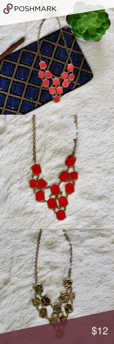 """EUC bp Coral Statement Necklace EUC statement necklace from Nordstrom bp. 16"""" with 3"""" extender. Open to offers! bp Jewelry Necklaces"""