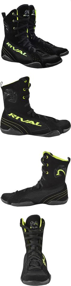 Shoes and Footwear 73989: Rival Boxing Hi-Top Mesh Paneled Rsx-One V2 Boots - Black/Lime Green -> BUY IT NOW ONLY: $89.99 on eBay!