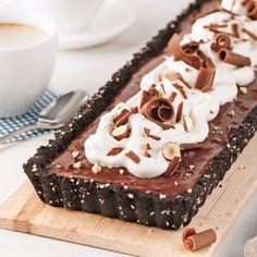 Tarte au chocolat, noisettes et café - Desserts - Recettes 5-15 - Recettes express 5/15 - Pratico Pratiques