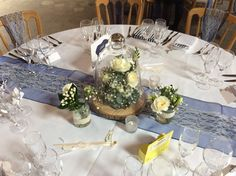Beautiful rustic scheme with Ivory lace and navy by Add Style UK