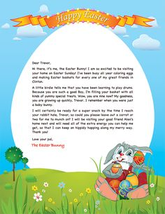 easter bunny letter exle personalized letters from letter templates easter party lettering sample