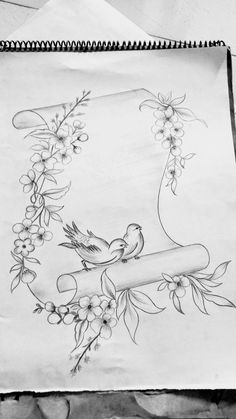 Vogel Tattoo Ideen Rippen - are in the right place about baby bird Here we offer you the most beautiful pictures about the bird vector you are looking for. When you examine the Vogel Tattoo Ideen Rippen - Girl Drawing Sketches, Design Art Drawing, Cool Art Drawings, Pencil Art Drawings, Easy Drawings, Drawing Drawing, Pattern Drawing, Drawing Birds, Pencil Sketch Drawing