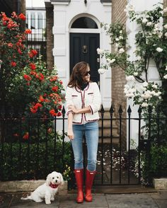 Rosie Londoner wearing Hunter Original.