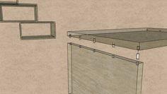 Hochbett: Montage der Regalkästen mit Runddübeln