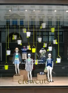 J CREW - Window Display June 2014 Campaign message supported with props #visualmerchandising #windowdisplays