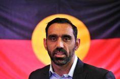 Adam Goodes speaks in Sydney in support of constitutional change for Aboriginal and Torres Strait Islander people.