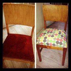 Así quedaron las sillas de mi comedor :)