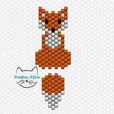Thank you for your kind messages, the little fox you like! The diagram is not very complicated, but I put it to you anyway . Beading Patterns Free, Seed Bead Patterns, Beaded Jewelry Patterns, Peyote Patterns, Beading Projects, Beading Tutorials, Brick Stitch Earrings, Native Beadwork, Bead Loom Bracelets