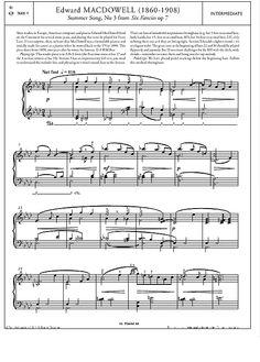 Summer Song, No.3 from 'Six Fancies' Op.7 >>> KLICK auf die Noten um Reinzuhören <<<