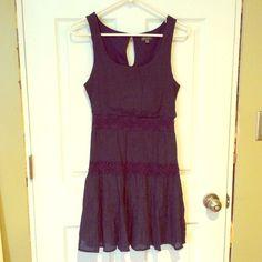 Navy Dress Eyelet navy dress Lily Rose Dresses Mini