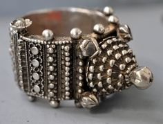 silver bracelet with all over granulation  Orissa,  India  (Singkiangarchives sold )