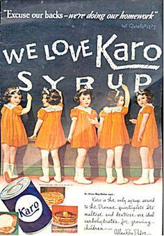 1937 Karo Syrup Dionne Quintuplets