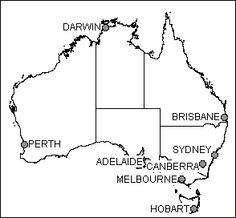 Australia printable, blank map, royalty free, New Zealand
