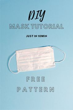 linda features a new free sewing pattern every day - perfect for beginners and experienced sewists. Visit daily for free sewing tutorials and patterns. Diy Mask, Diy Face Mask, Sewing Hacks, Sewing Tutorials, Eyelash Logo, Doodle Background, Sewing Patterns Free, Free Sewing, Good Manufacturing Practice