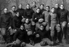 """Cochran's Steamrollers"" - the 1896 Princeton Tigers National Championship team. Team Captain Garrett Cochran is at the far right. Team Photos, Sports Photos, Princeton Tigers, Football Photos, Gibson Girl, Vintage Football, National Championship, Helmets, Ivy"