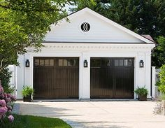 Did you remember to shut the garage door? Most smart garage door openers tell you if it's open or shut no matter where you are. A new garage door can boost your curb appeal and the value of your home. Black Garage Doors, Carriage Garage Doors, Garage Door Windows, Diy Garage Door, Modern Garage Doors, Garage Door Design, Garage Storage, Black Doors, Garage Organization