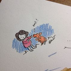 Just celebrating the  recovery of my dog  drawing sketch dwgdaily ink coloredpencils children