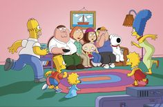 The Griiiiiffiiiiiins....  (On the Simpsons' couch?! What kind of gag is this?!) #familyguy