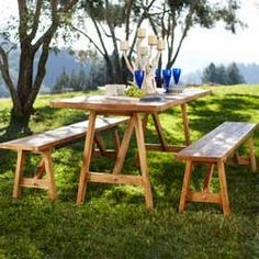 Teak Four-Season Table and Bench