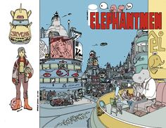 ELEPHANTMEN #43 cover by Brandon Graham