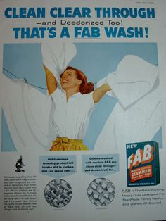 1957 Fab Detergent Vintage Advertisement by RelicEclectic, $7.00