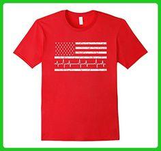 Mens Funny EKG Nurse Flag Shirt 4th of July Women Men Male RN XL Red - Holiday and seasonal shirts (*Amazon Partner-Link)
