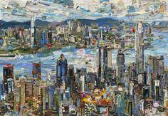 hong kong postcard - vik muniz