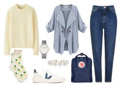 """""""Yellow Submarine"""" by aestheticarithmetic ❤ liked on Polyvore featuring Veja, Uniqlo, Topshop, CLUSE, maurices, Fjällräven, Humble Chic, yellow, topshop and fjallraven"""