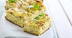 Recette de Quiche sans pâte légère aux poireaux, courgettes et crevettes. Facile et rapide à réaliser, goûteuse et diététique.