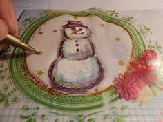 Making Christmas Goodies - Faber-Castell Design Memory Craft. Snowman
