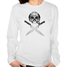 Chef Half Skull Knives v2 Tee Shirts