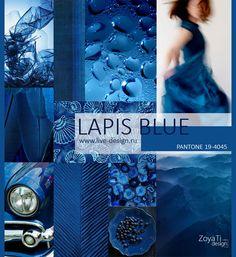 Модный цвет PANTONE 2017 -19-4045 Lapis Blue / Синий Лазурит, сезон лето-весна 2017