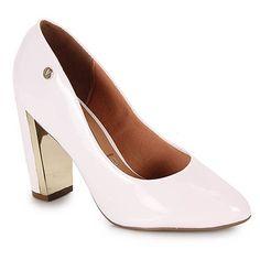 Sapato Salto Feminino Vizzano - Branco