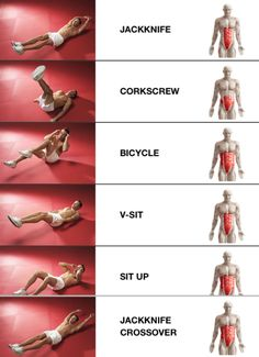 Full ab workouts that show you which muscles you're toning. #exercise #workout #fitness