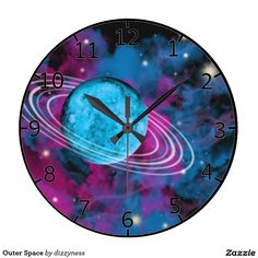 Outer Space Wall Clocks