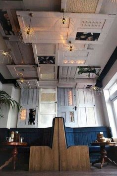 Restaurant panelled ceiling