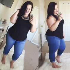 """""""I love these pants. They accentuate my waist/hips, stay fitted all day long, and give me good side butt haha. These are the @torridfashion jeggings...…"""""""
