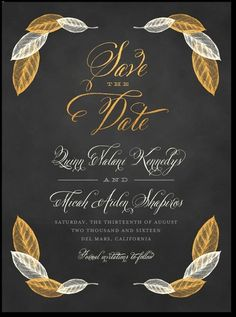 Love these for either save the dates or the invitations!