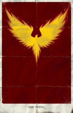 Minimalist Dark Phoenix Art by Marko Manev