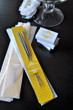sparkler packaging - maybe rehearsal dinner, since Nestldown wont allow sparklers - or wait are they illegal?
