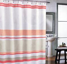 Cynthia Rowley Fabric Shower Curtain Peach Orange Stripes on White Cynthia Rowley New York http://www.amazon.com/dp/B00Z55FSV6/ref=cm_sw_r_pi_dp_mT7Qwb140F0DF