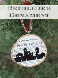 O Little Town of Bethlehem Ornament - plus a free download of the carol